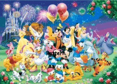 Disney Heroes #10. Cross Stitch Pattern. PDF Files.