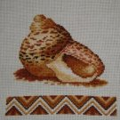 A Cockleshell. Handmade. Beautiful Cross-Stitch Embroidered.