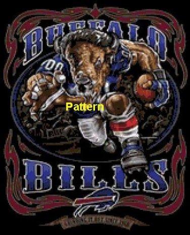 Buffalo Bills Mascot #1. Cross Stitch Pattern. PDF Files.