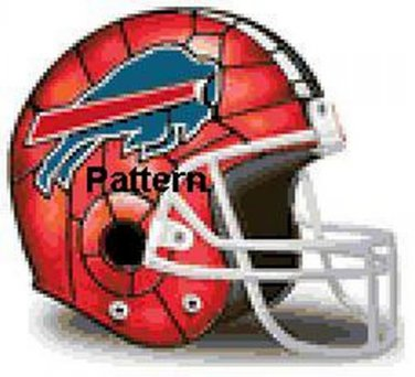 Buffalo Bills Helmet #1. Cross Stitch Pattern. PDF Files.