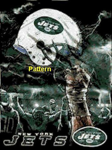 New York Jets Helmet #1. Cross Stitch Pattern. PDF Files.