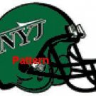 New York Jets Helmet #2. Cross Stitch Pattern. PDF Files.