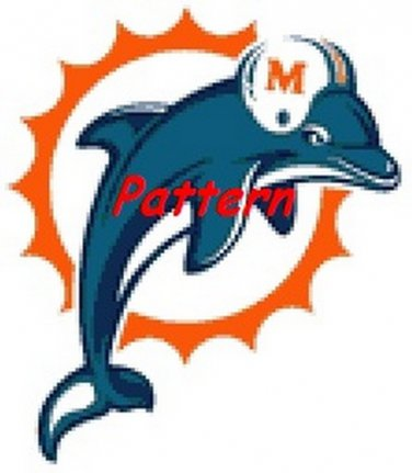Miami Dolphins Mascot #5. Cross Stitch Pattern. PDF Files.