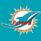 Miami Dolphins Mascot #7. Cross Stitch Pattern. PDF Files.
