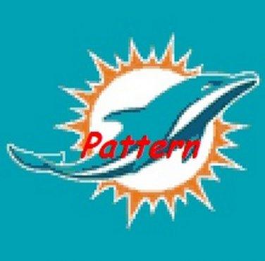 Miami Dolphins Mascot #7. Cross Stitch Pattern. PDF Files.
