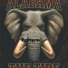Alabama Crimson Tide #2. Cross Stitch Pattern. PDF Files.