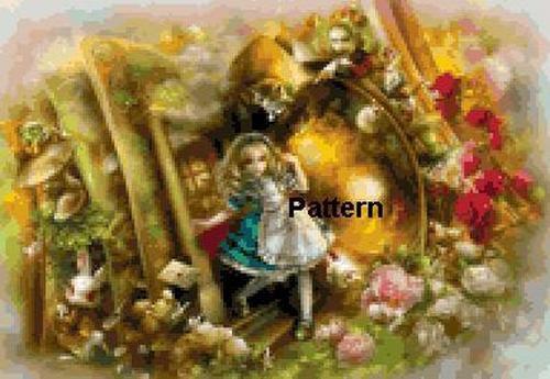 Alice In Wonderland #3. Cross Stitch Pattern. PDF Files.