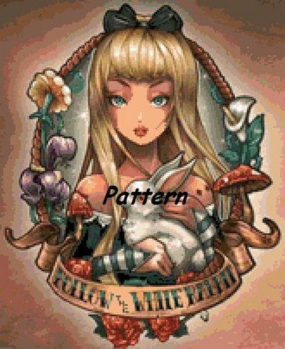 Alice In Wonderland #8. Cross Stitch Pattern. PDF Files.