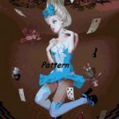 Alice In Wonderland Pin Up. Cross Stitch Pattern. PDF Files.