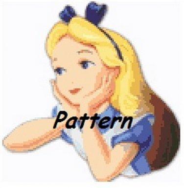Alice In Wonderland #5. Cross Stitch Pattern. PDF Files.