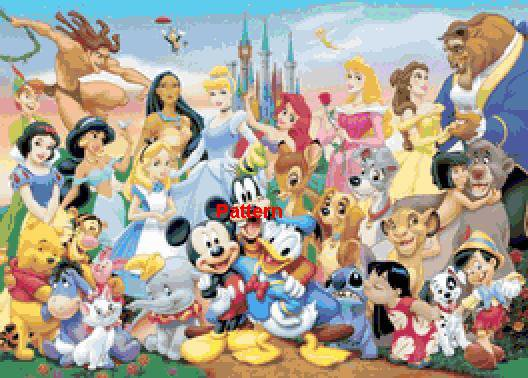 Disney Heroes. Counted Cross Stitch Kit. Free shipping.