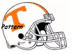 Tennessee Volunteers Helmet #1. Cross Stitch Pattern. PDF Files.