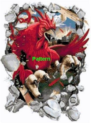 South Carolina Gamecocks Mascot. Cross Stitch Pattern. PDF Files.