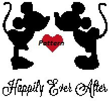 Mickey and Minnie Happily Ever After. Cross Stitch Kit.