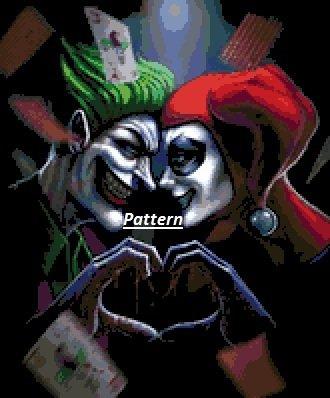Joker and Harley Quinn. Cross Stitch Kit.