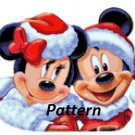 Christmas Minnie & Mickey Claus. Cross Stitch Kit.