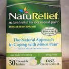 NatuRelief Natural Pain Management Drug Free 30 Chewable Tabs RELIEF PAIN FAST