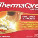 TWO BOXES of THERMACARE HEATWRAPS NECK WRIST SHOULDER HEAT WRAP 8hrs of heat NEW