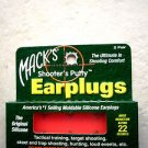 Mack's Shooter's Putty EarPlugs MACK SHOOTER EAR PLUG 2 PAIR SILICONE SOFT noise