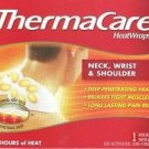 THREE BOXES of THERMACARE HEATWRAPS NECK WRIST SHOULDER HEAT WRAP 8hrs of heat