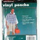 "Texsport Authentic Adventure Gear Vinyl Poncho 32710 light blue 50 "" x 80 "" rain"