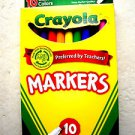 Crayola Markers 10 Crayola Classic Markers Nontoxic Preferred by Teachers Fine L