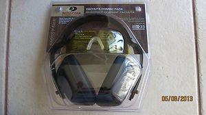 combo shooting hearing protection ear muffs yellow safety glasses Pachuta MO-PCP