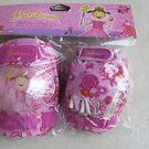 Pinkalicious Multi sport elbow and knee pads with gloves Girl pink flower gift N