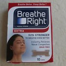 Breathe Right nasal strips EXTRA instantly relieves nasal congestion 10 strips N