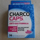 Charco Caps homeopathic Anti-Gas formula 36 capsules anti gas Fast Natural Relie