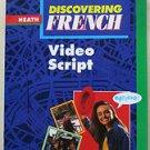 Discovering French video script Valette McDougal littlell PB book 0669434906 hea