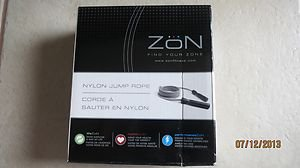 "Zon Nylon Jump rope EX/JR 79"" length Anti-Tangle bearing indoor outdoor NEW ex"
