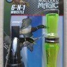 Buck Gardner Calls 6 N 1 whistle FINISHER COMBO Mallard Magic MM-PT double reed