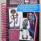 Monster High Monster Fashion Mini Sketch Book Stickers sketch sheets markers NEW