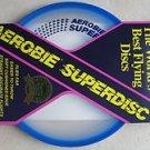Aerobie Superdisc the world's best flying discs # A25 Flies Far super disc BLUE