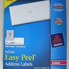 "Avery 5160 White Easy Peel Address Labels LASER 3000 labels / 100 sheets 1"" box"