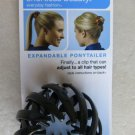 Scunci 1 pc Expandable ponytailer HAIR CLIP that can adjust 37541-A BLACK NEW so