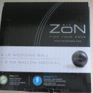 Zon 4 lb Medicine ball Soft Vinyl Covering for superiour grip Compact design NEW