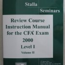 Stalla Seminars Review Course Instruction Manual for the CPA Exam 2000 Level I