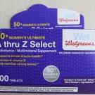 Walgreens A thru Z Select 50+ Women's Ultimate Multivitamin supplement 100 ct N