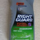 Right Guard Total Defense 5 REFRESHING 13.5 fl. oz. Deodorizing body wash 18 hr