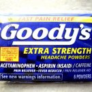 FOUR packs Goody's Extra Strength Headach Powders 6 powders Aspirin Pain Relieve