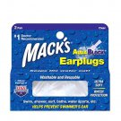 TWO boxes of Mack's AquaBlock CLEAR Earplugs Water Sport Swimming Fun 2 pair eac