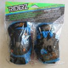 Riderz Street Shred Bicycle Pad Set ( Gloves Knee and Elbow pads ) Blue Black N