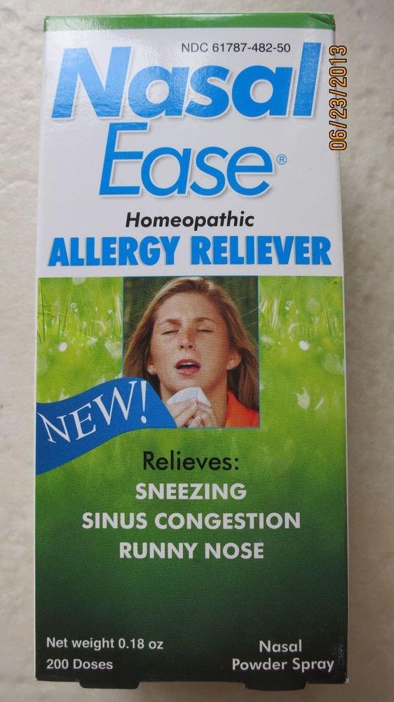 Nasal Ease Homeopathic allergy Reliever 0.18 oz ( 200 Dozes ) Nalsal spray EXP:2015 NEW