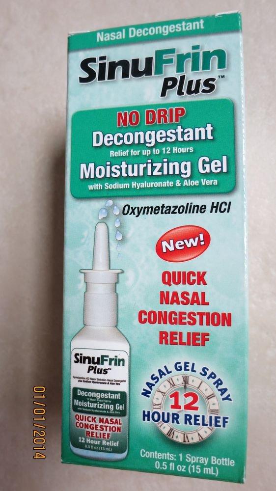 NeilMed SinuFrin Plus No Drip Decongestant Moisturizing Gel .5 fl. oz. nasal rel