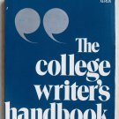 The college Writer's handbook Suzanne Jacobs Roderick Jacobs book pb 0536006911