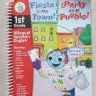 """Leap Frog LeapPad Book """" Fiesta in the Town ! """" """" Party en el Pueblo """" 1st grade"""