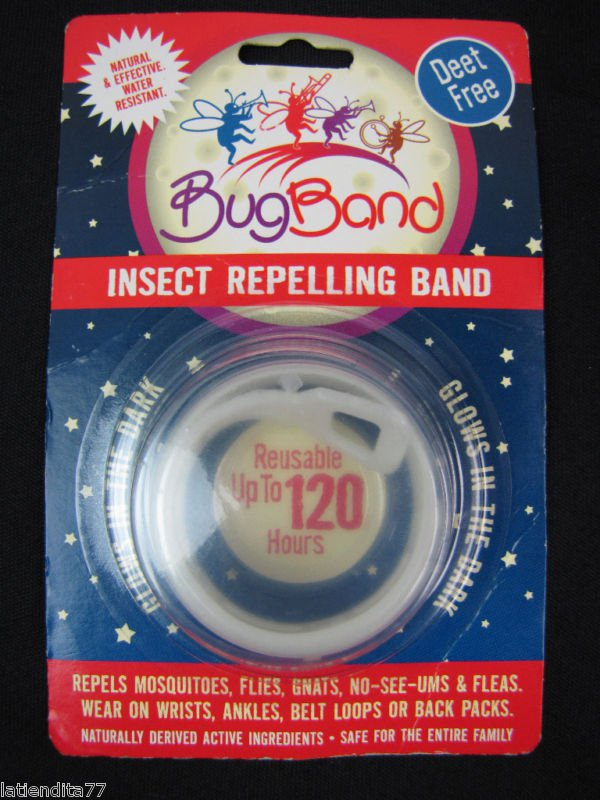 2 Deet Free Bugbands insect Repelling Band Repels mosquitoes 120 hrs Glow in the