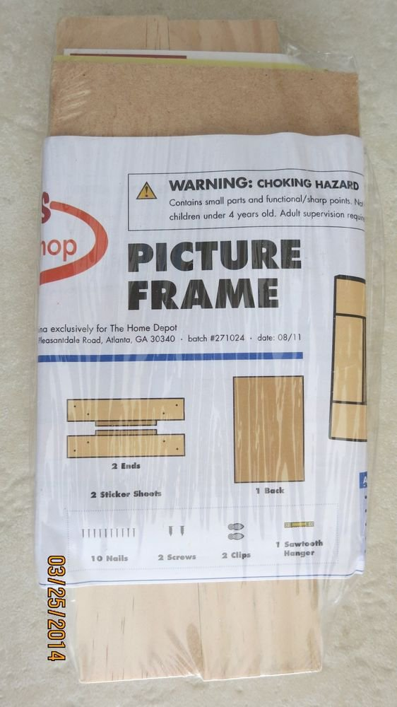 Home Depot PICTURE FRAME Wood Project Kids toy build hand building gift NEW work